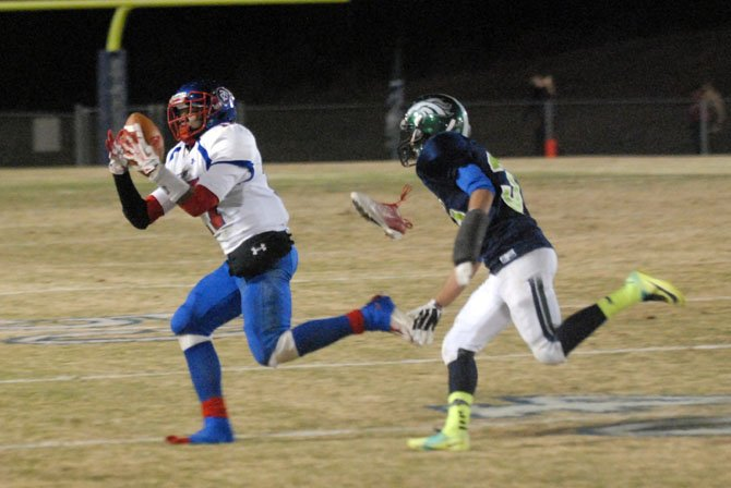 T.C. Williams receiver Tyrice Henry finished with 102 receiving yards against South County on Nov. 15.