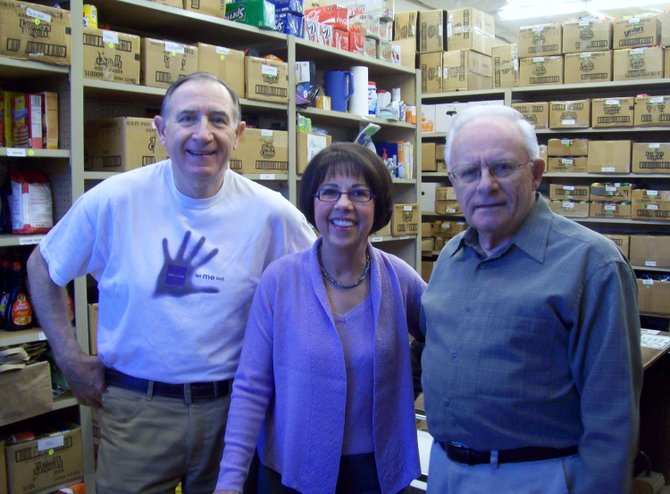 John Ray, Meg Brantly and Duanne Carlson have been volunteering at ECHO for several years. Carlson is one of ECHO's founding fathers.