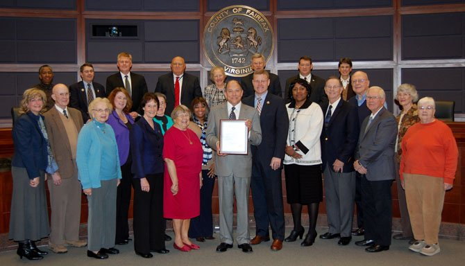 Members of the Greenspring Resident Council and staff were recognized at the Board of Supervisors meeting on Nov. 19 in honor of the community's 15th anniversary.