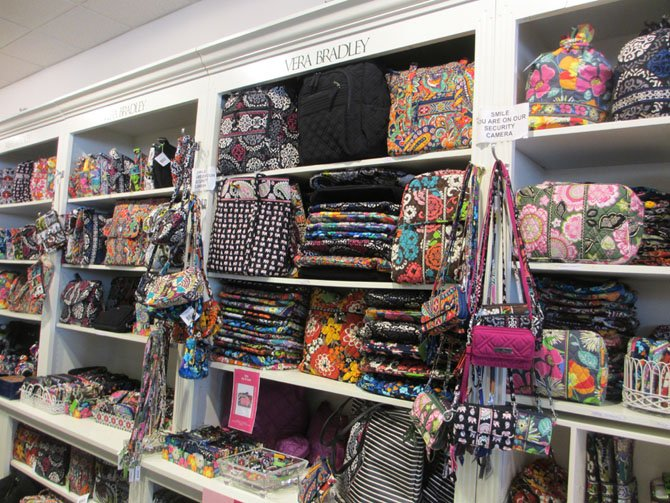 Abbey Hallmark features a diverse selection of Vera Bradley bags.