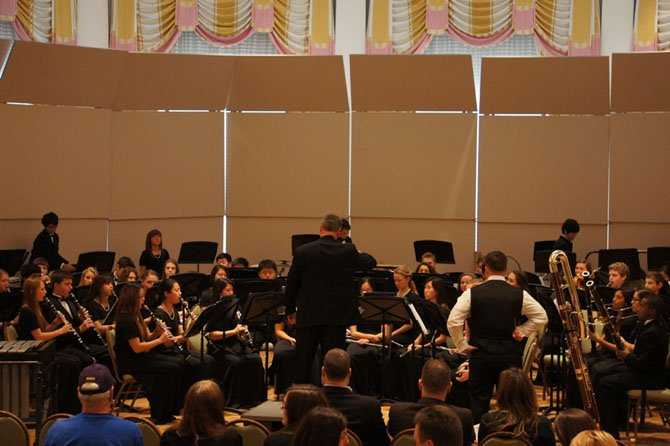 The Fairfax High band's Wind Ensemble performed at the Virginia Music Educators Association convention.