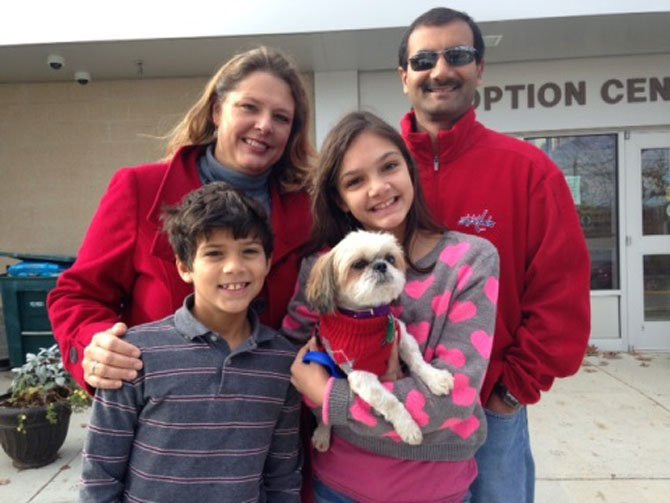 Biscuit was adopted in August by Faisal and Mary Ann Rashid of Oakton, and their two school-age children, Julia and Sam.