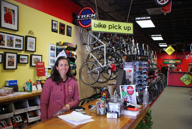 Jen Cortesi, general manager of the Springfield location of The Bike Lane, was surprised at the lack of turnout for Small Business Saturday.