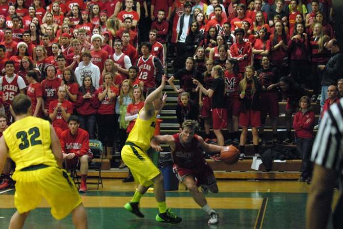 The McLean student section was part of a spirited environment at Langley High School on Friday night.