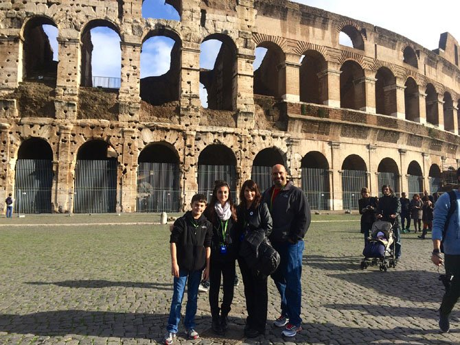 Len Annetta, Ph.D., of George Mason University traveled to Italy recently with his wife, Jennifer, and his children Samantha and Joey. Annetta kept his children occupied during the long fight with cloud games and by helping them practice Italian.