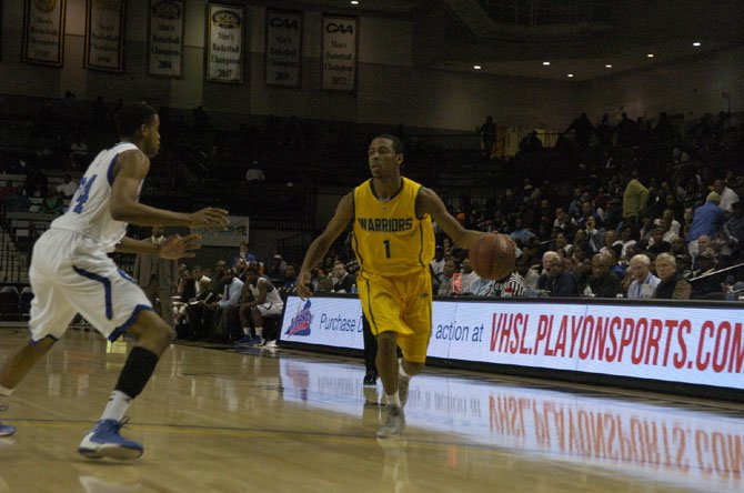 Wakefield's Re'Quan Hopson, seen during the 2013 VHSL state tournament, made a game-winning 3-pointer against Langley in the Northern Region quarterfinals.