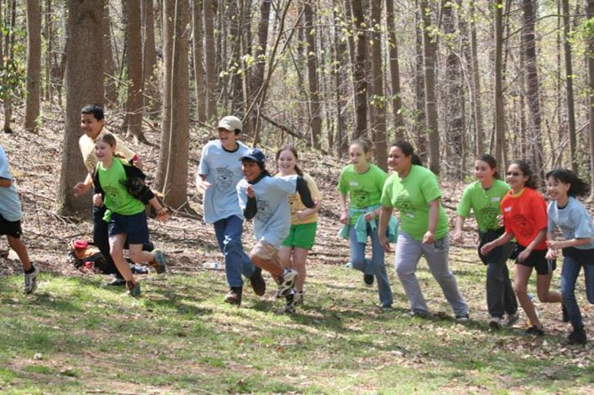 Over 750 students went through the Field Trip Grant Program at Hemlock Overlook Regional Park, which includes team-building exercises like the one featured above.