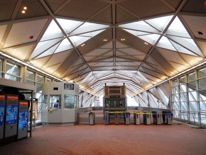 Interior look of the Tysons Corner Station.