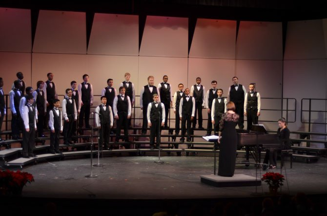 South Lakes High School Men's Camerata was the first group to sing at the 2013 Winter Concert at the school's Little Theatre on Dec. 19.