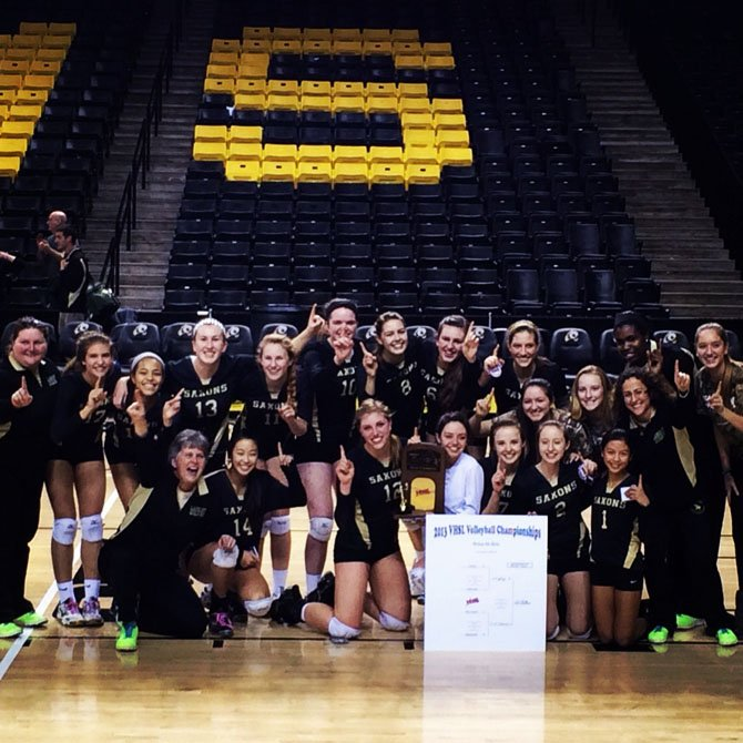 The Langley volleyball team won the 2013 6A state championship.