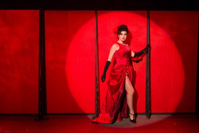 "Louise (Maria Rizzo) transforms herself into Gypsy Rose Lee in the musical ""Gypsy."""