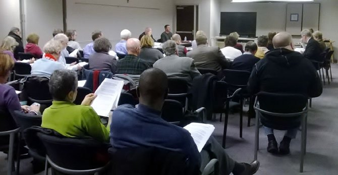 Many supporters and opponents to Residential Studio Units in Fairfax County attended the Planning Commission RSU Committee's planning session on Jan. 6.