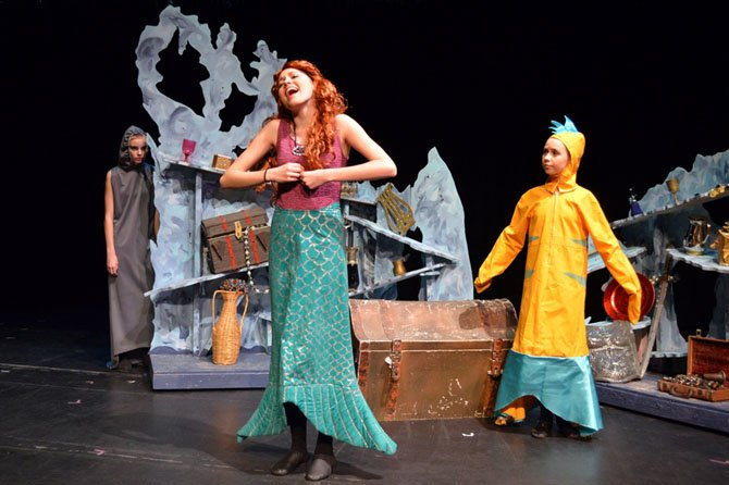 "Ariel (Katelyn Sparks) sings ""Part of Your World."""