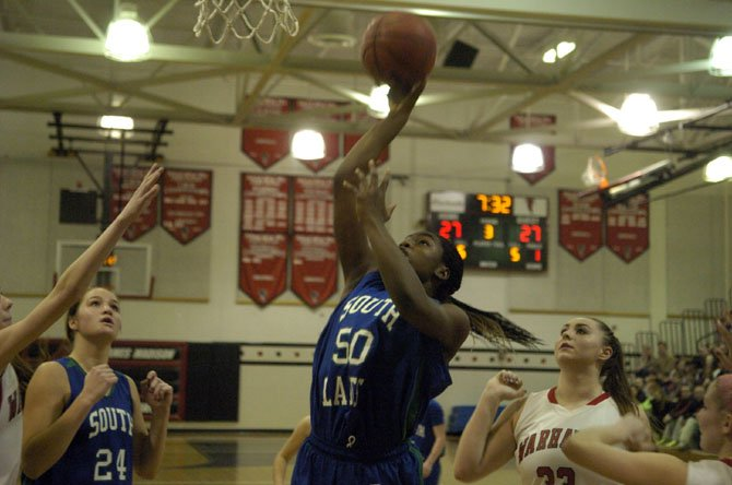 South Lakes junior Princes Aghayere scored 18 points and grabbed 19 rebounds against Madison on Jan. 10, giving her 41 rebounds in two games.
