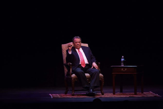 Andrew Young sat before a packed house at the Alden Theatre on Friday, Jan. 17.