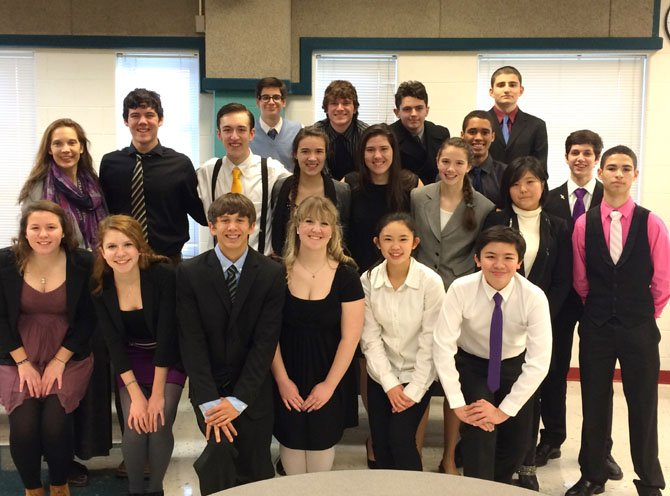 Chantilly High's Speech Team captured the district title last week for its second consecutive year.