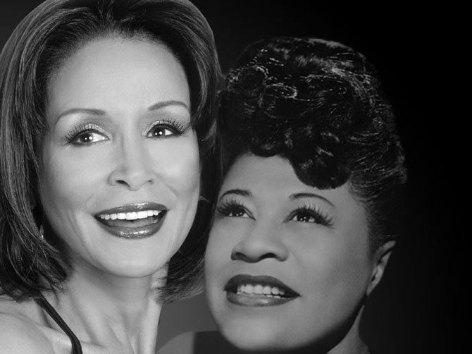"Freda Payne portrays Ella Fitzgerald in the MetroStage production of ""Ella,"" playing now through March 16."