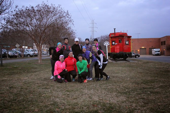 """Vienna-Oakton Moms Run This Town has more than 600 members. The """"moms"""" group breaks down into pace groups for large runs and, someone in the group is offering a run each day."""