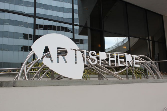 Artisphere is located at 1101 Wilson Boulevard in Rosslyn, and is accessible via foot, car or metro.