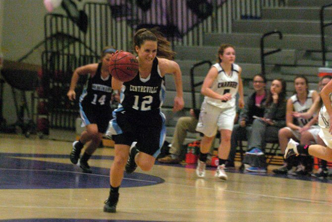 Centreville guard Jenna Green scored 20 points during Tuesday's victory over Chantilly.
