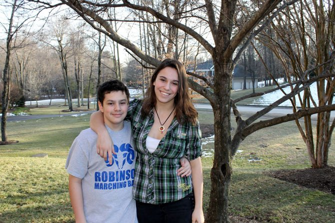 Rachel Keith, a 17-year-old Fairfax Station resident, has been taking classes at Northern Virginia Community College for the past two years. Her brother Matt, left, may be following Rachel's path of dual-enrollment.
