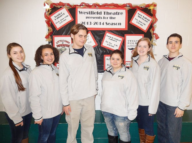 From left are Westfield student directors Catherine Crossett, Gabby Moses, Colin Edner, Hanna Soudah, Morgan Perigard and Julian Sanchez. (Not pictured, Zack Walsh).