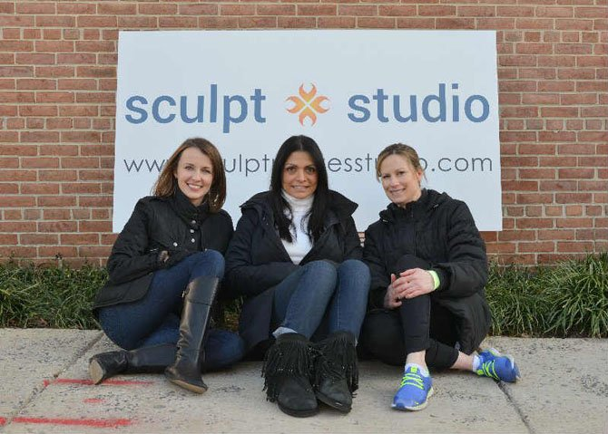 The three owners of Sculpt Pilates Studio: Danielle Tate, Mary Farber and Ginine Beyer.