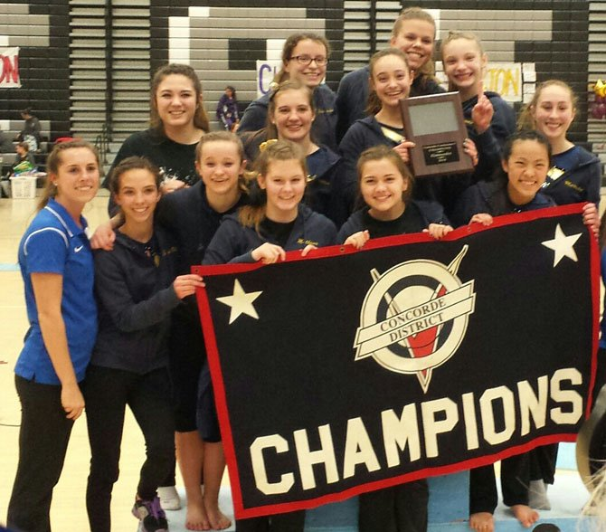 The Robinson gymnastics team won the Conference 5 championship on Feb. 6 at Centreville High School.