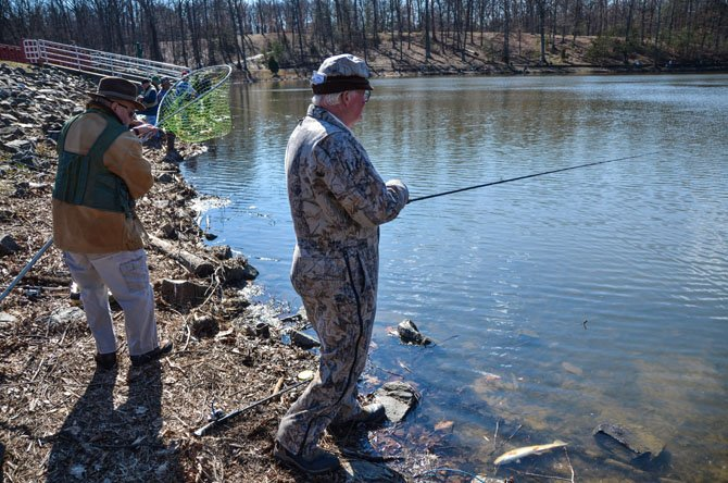 Fishermen are invited to come catch their six fish daily limit at Lake Fairfax Park in Reston.