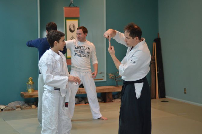 Chief Instructor Brian Ericksen, 4th Dan Shidoin at the Heaven and Earth Aikido studio in Herndon.