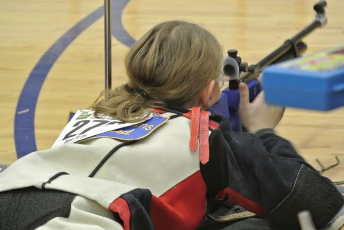 Robinson Secondary School senior Caitlyn Ford, a member of the school's rifle team, will be heading to Colorado in April to compete in the Junior Olympics.