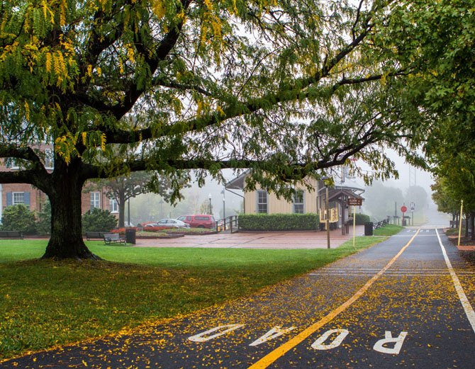 """Herndon in the Fog"" by Herndon photographer Andrew Rhodes, a finalist in this year's juried photography competition."