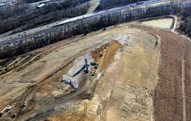 An aerial view of the Lorton landfill. The landfill is owned by EnviroSolutions.