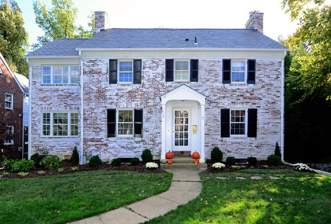 Arlington family outgrows home but stays put for Colonial brick