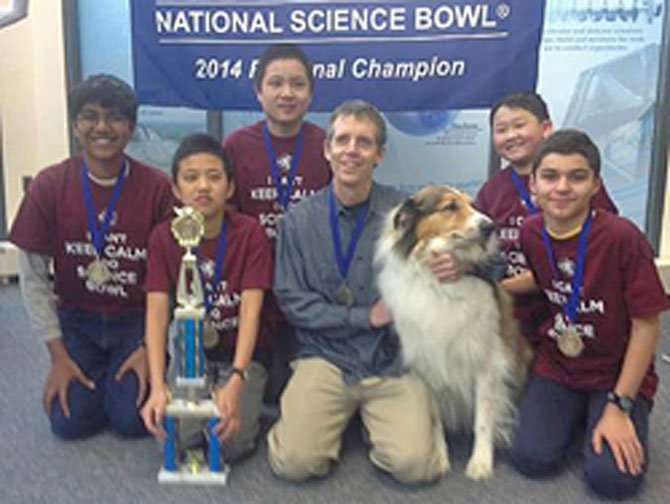 The Longfellow team placed first in a field of 16 middle school teams, winning a $750 prize to support science programs at the school.