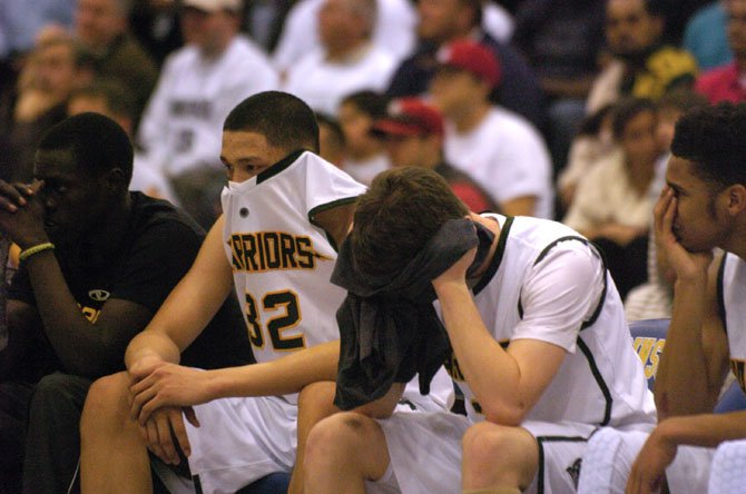 The Wakefield boys' basketball team lost to Henrico on March 8 in the 5A state semifinals at Robinson Secondary School.