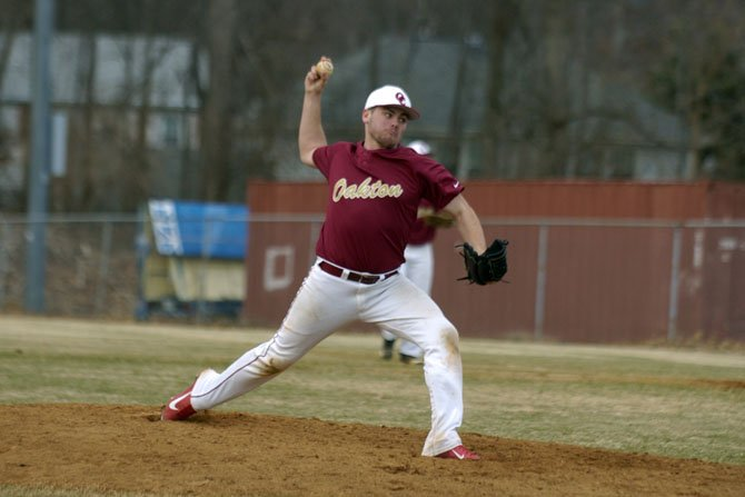 Oakton senior R.J. Gaines enters the 2014 season as one of the Cougars' top pitchers.