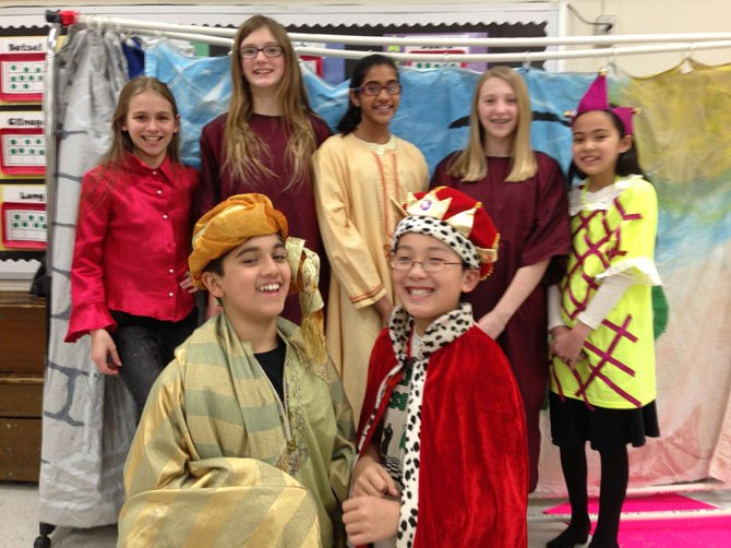 Wolftrap Odyssey of the Mind team in costume.