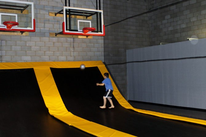 Dylan of Lorton enjoys some time on a trampoline at Flight Trampoline Park in Springfield.
