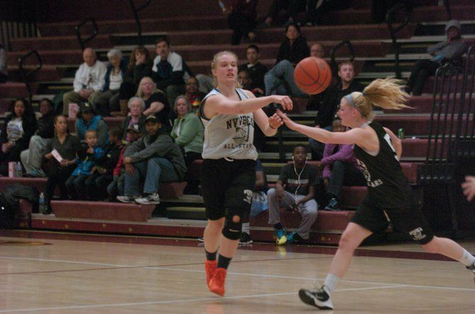 West Springfield senior and East all-star Amy Berglund won the 3-point shootout at the 10th Suburban Classic on March 23 at Oakton High School and scored 10 points during the main event.