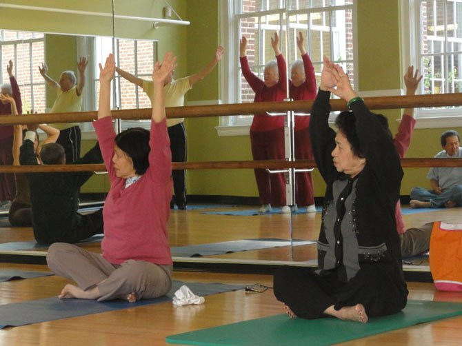 Arlington seniors take a hatha yoga classes. A recent study showed yoga programs specifically designed for seniors can improve strength and flexibility.