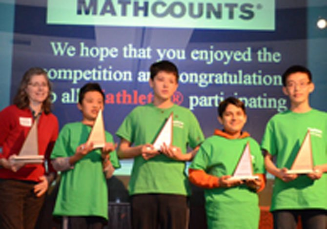 Longfellow Middle's Mathcounts Team