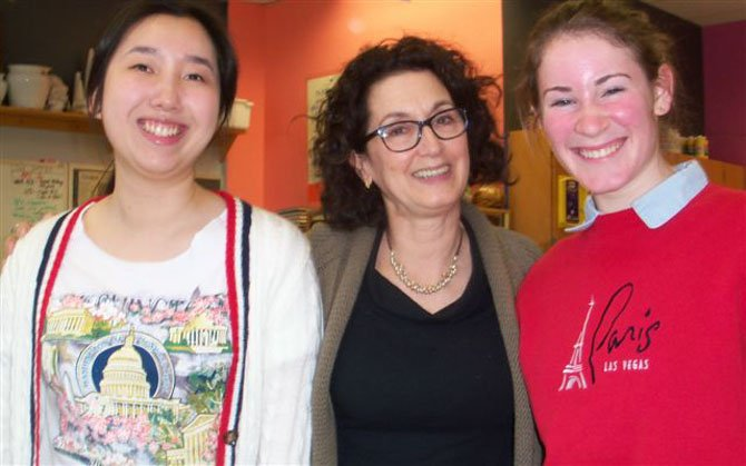 HB Woodlawn: Yiru Jiang, Faylinda Kodis and Maura Shapiro
