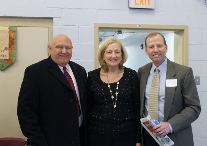 Mount Vernon District Supervisor Gerry Hyland, Joan Gartlan and Peter Gartlan at the Gartlan Center's grand opening on March 27.