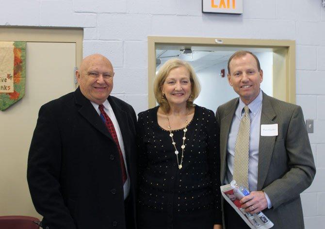 Mount Vernon District Supervisor Gerry Hyland, Joan Gartlan and Peter Gartlan at the Gartlan Center's grand opening on March 27.
