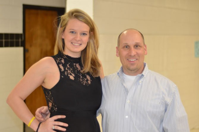 Herndon High Marketing Department chair David Petruzzi and Maggie Russell helped coordinate the 2014 Herndon High Fashion show held in March.