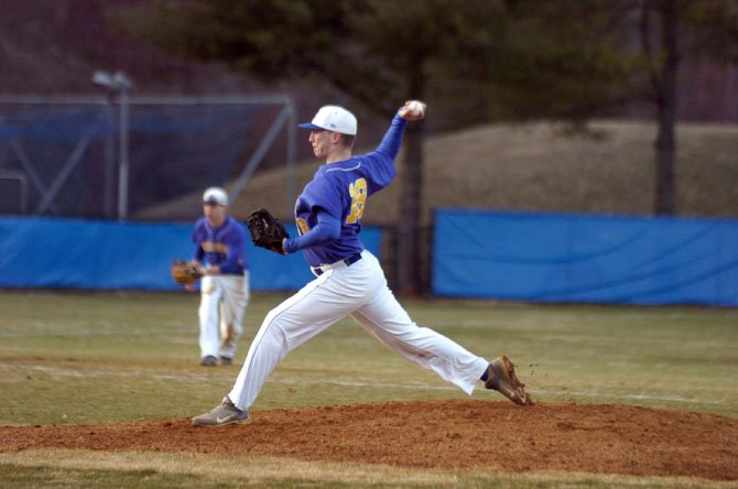Robinson senior Chris Lohr pitched 5 1/3 scoreless innings in relief to earn the victory against Marshall on March 27.