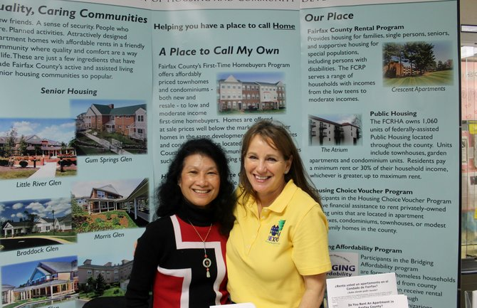 Gail Lee and Carol Erhard, director of the Rental Services Division at Fairfax County Department of Housing and Community Development, presented information on housing programs in Fairfax County at the 2014 Northern Virginia Housing Expo.