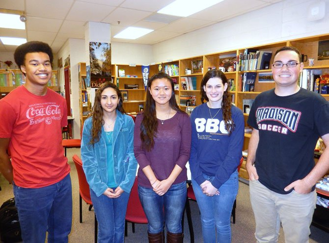 (From left) Madison students Ben Jackson, Merna Yakoub, Liz Thielen, Rachel Blacker and Matt Boyle participated in the job shadowing.