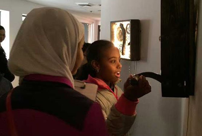 The look of wonder on this student's face was repeated hundreds of times during this year's MPA ArtReach school tours.